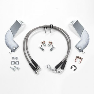 Rear Stainless Brake Line Kit, SN95
